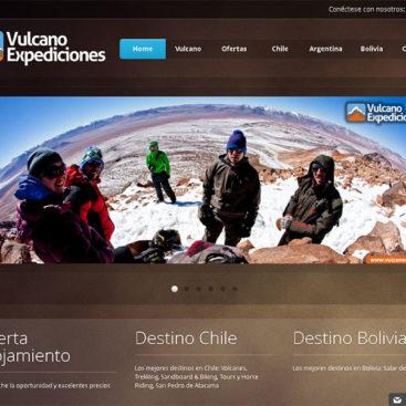 web logo agencia turismo vulcano