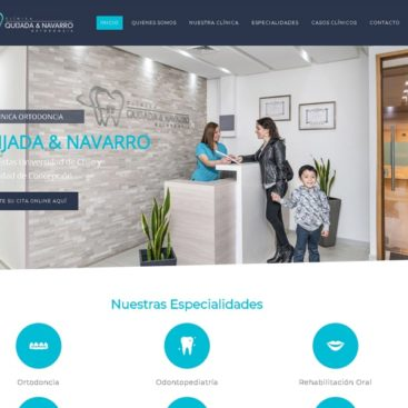 sitio web para ortodoncista dentista